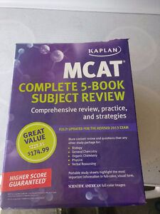 MCAT REVIEW AND BIOLOGY TEXTBOOKS, OPEN TO VIEW LIST