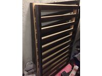 Brown wooden Mothercare cot £15