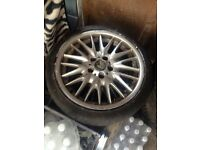 BMW 18 inch staggerd alloys