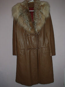 Real leather and fur lining Coat MEDIUM
