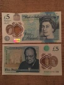 £5 note AA04