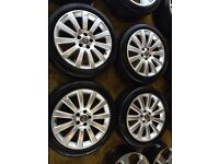 """18"""" GENUINE VAUXHALL VECTRA 3.0 ALLOY WHEELS ASTRA ZAFIRA SET OF 4 WITH TYRES"""