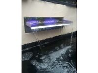 Pond Metal Heron ,31 inches tall £15 Pond Floating Gaurds, X 30 ,Stainless LED Water Fountain