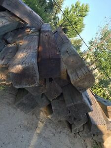 Creosote and Pressure Treated 8x8 retaining wall logs for sale