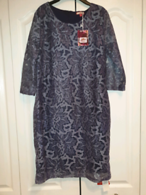 Brand new with tags. Joe Browns size 16, navy lace dress.