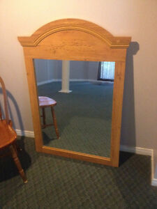 Large Honey-Coloured Country Pine Mirror