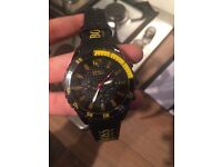 Gents Hugo boss watch black and yellow