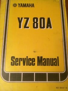 1974 Yamaha YZ80 Service Manual