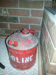 Antique gas can & oil container