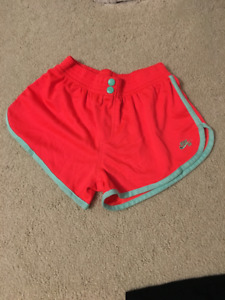 Neon Pink Nike SB Shorts with Turquoise Highlights