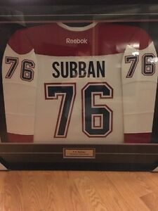 Pk subban signed and framed jersey