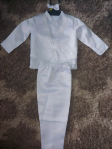 SOLD PPU  Boys Baptism Outfit 4 piece- 12 mnths