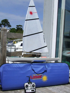 "42"" RC Laser Sailboat."