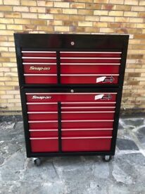 Snap On Toolbox, top box and roll cab, chest.