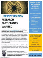 UBC Psychology Seeking Socially Anxious Participants for Study