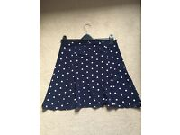 Matalan Polka Dot Skirt Navy size 12