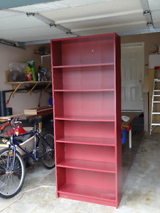 Ikea Billy bookcase - red