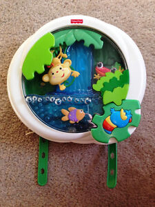 Fisher-Price Rainforest Peek-A-Boo Crib Soother Waterfall Lights
