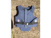 JustTogs Back Protector. 32 inch chest.