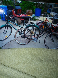 Antique bicycles, Nishiki racing 10 speedlarge frame$80 each