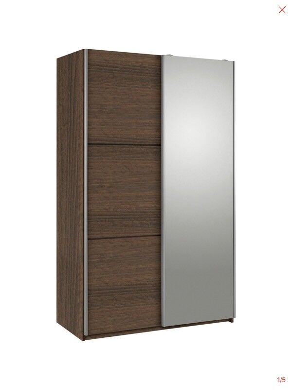 reputable site eec34 11bdd Hygena Bergen 2 Dr Small Sliding Wardrobe - Walnut & Mirror | in Moss Side,  Manchester | Gumtree