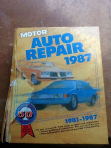 Repair manual 1981 to 1987 all make and models