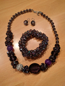 Matching Purple Jewelry Set