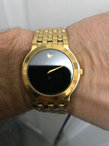 Movado Museum Men's Gold-Plated Stainless Steel Swiss Watch