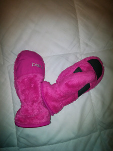 Girls fleece mitts, sz small