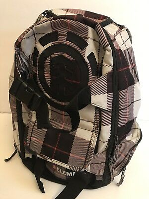 "ELEMENT Large 19"" Skateboard Backpack Striped Multi Pockets Travel School Camp"