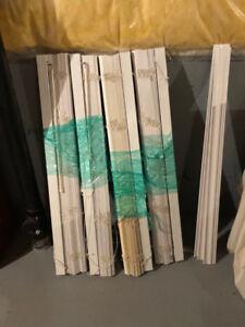 Set of 4 Faux wood slat blinds