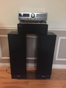 Ensemble : Haut-parleur (3) - lecteur DVD et Amplificateur