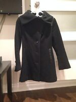 Mackage black leather detail jacket for winter XS