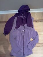 Girl's Winter Coat with Removable lining Size 10-12