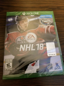 Unopened NHL 18 XBOX ONE game.
