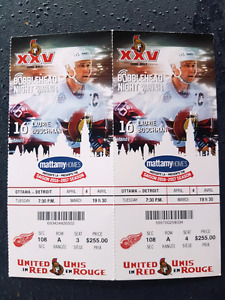Sens-Red wings, on glass tickets April 4!