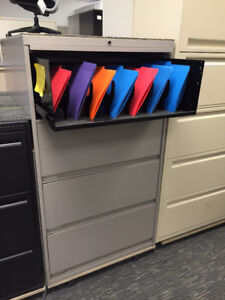 """Lateral filing cabinets 30"""" Steelcase recessed"""