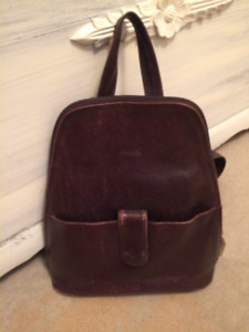 Distressed Leather Backpack Bag/Purse
