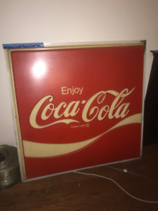 authentic antique coca cola sign