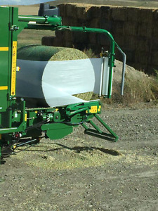 Baled corn silage for sale.