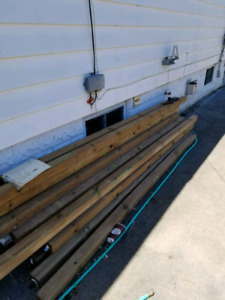 Pressure treated fence posts for sale
