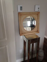 Nice mirror with metal frame