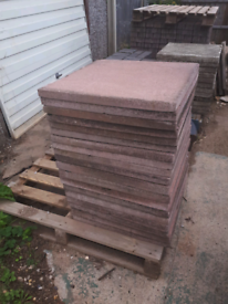 19 red 2x2 paving slabs