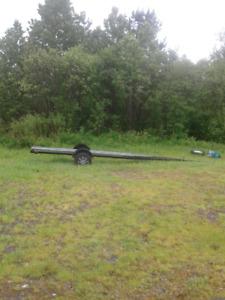 Canoe avec trailer, moteur et tarp