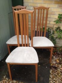 Dining chairs ~ Caxton high back Art Deco style