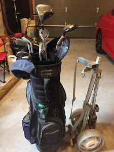 Golf Clubs, Bag and pull cart Belleville Belleville Area image 1