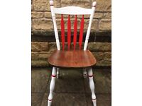 Chair white and red