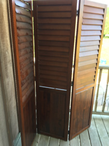 Espresso Brown Shutter Room Divider