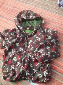 Boys Bug rain coat. 1 1/2- 2 years
