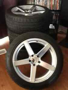New CV3 VOSSEN REPS/with tires 90% tread mint!